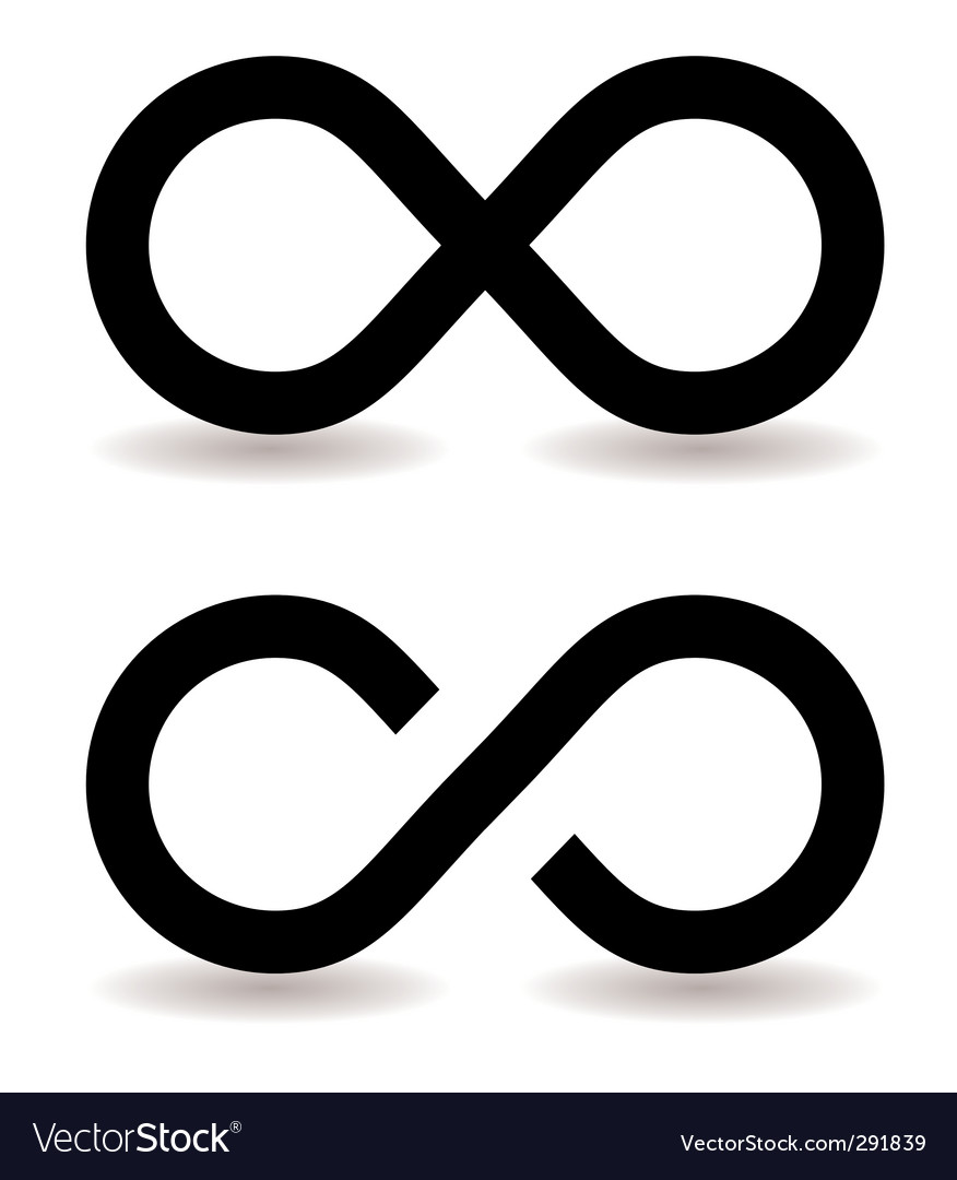 infinity symbol royalty free vector image vectorstock rh vectorstock com infinity symbol vector art infinity symbol vector art free