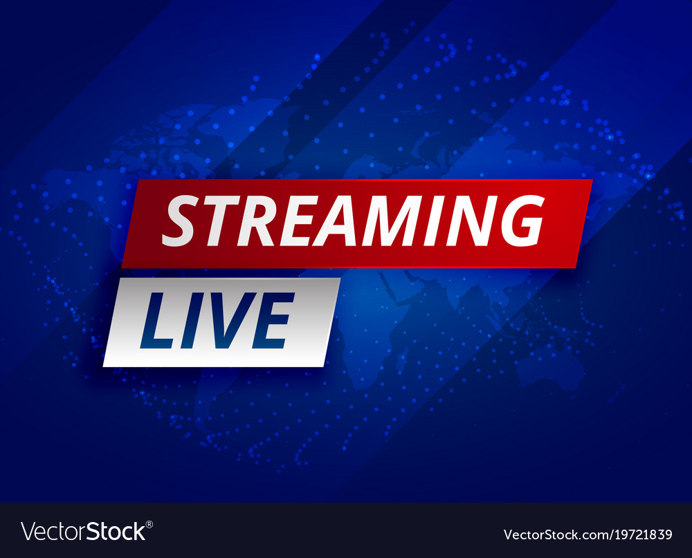Streaming Live News Background Template Royalty Free Vector