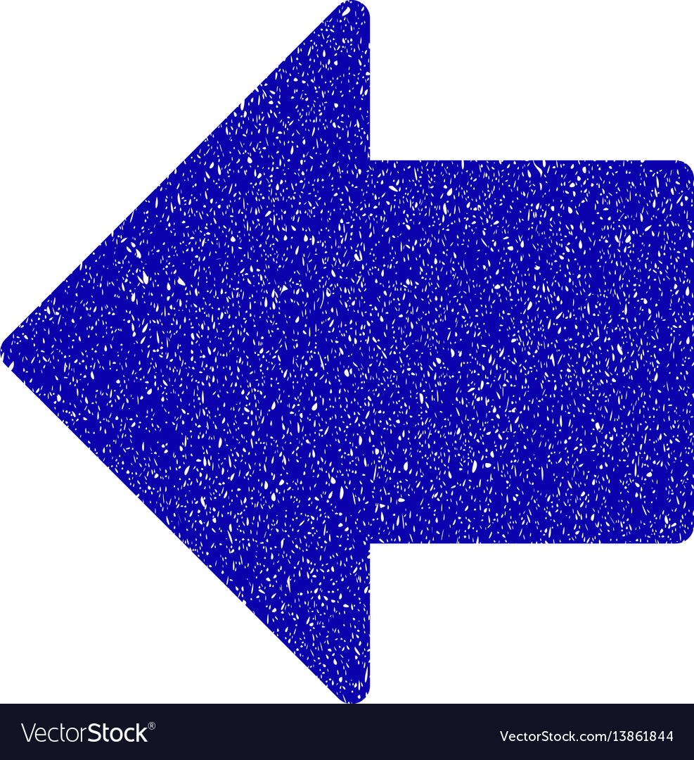 Arrow left icon grunge watermark