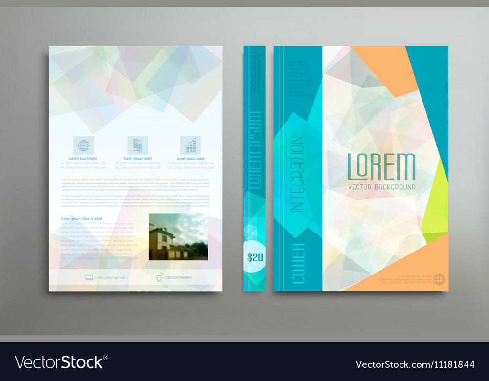 Color template cover for business