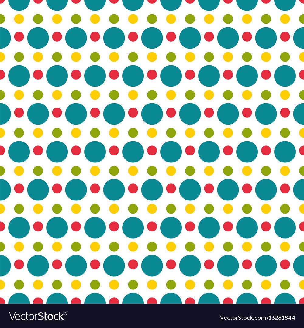 Colored polka dot seamless pattern