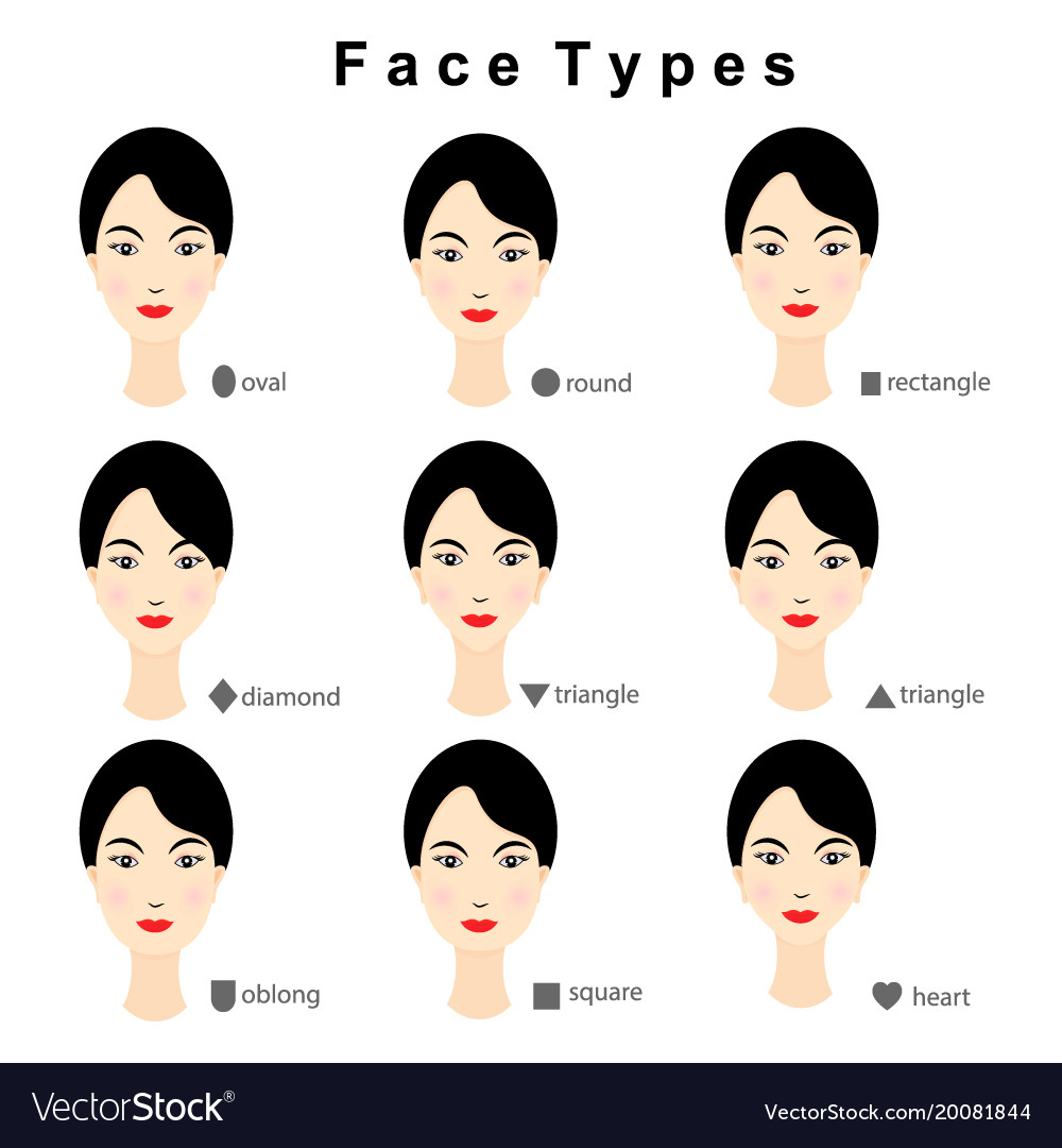 Remarkable Female Face Shapes On White Background Royalty Free Vector Schematic Wiring Diagrams Amerangerunnerswayorg