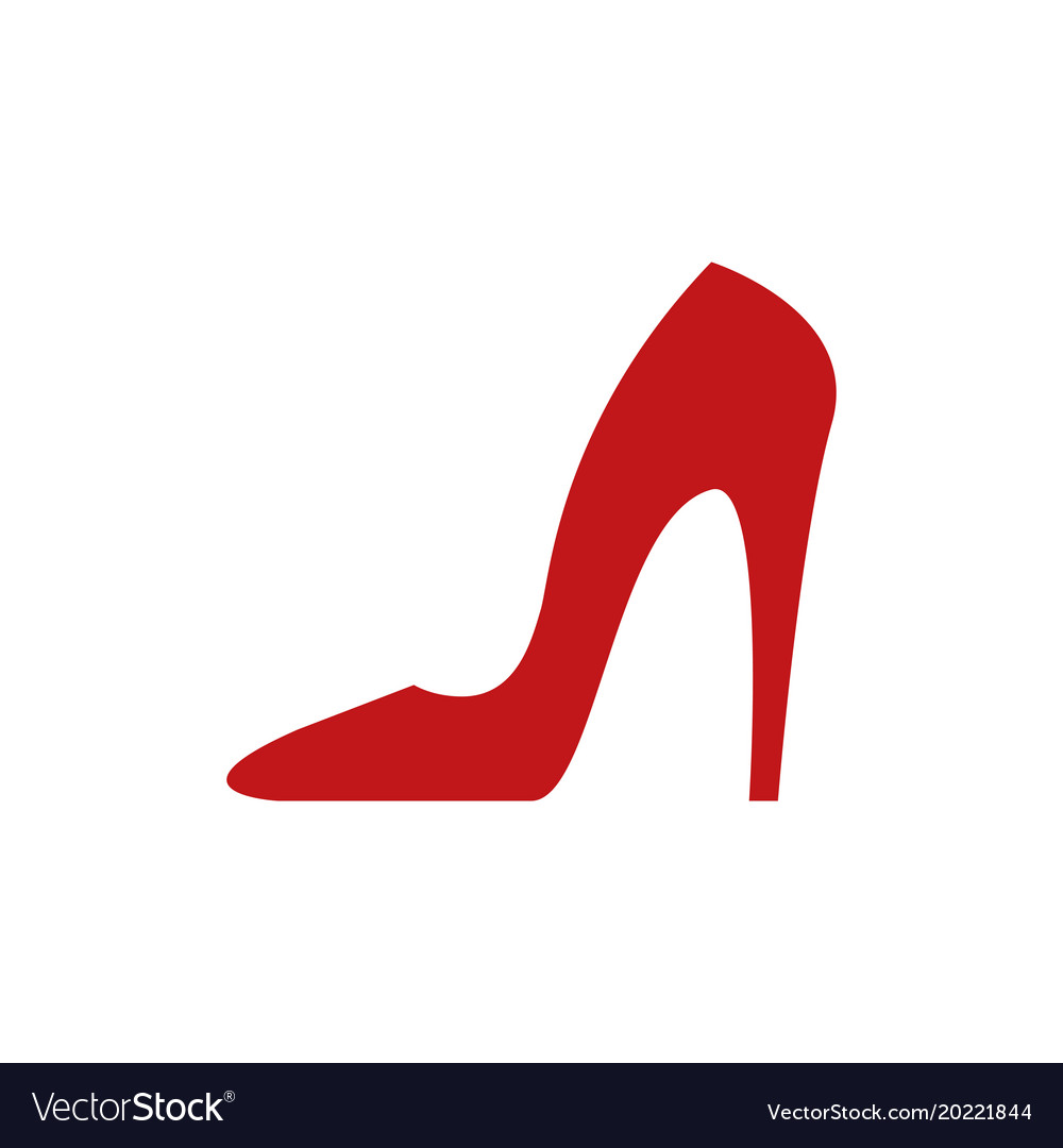 Red heels icon vector image