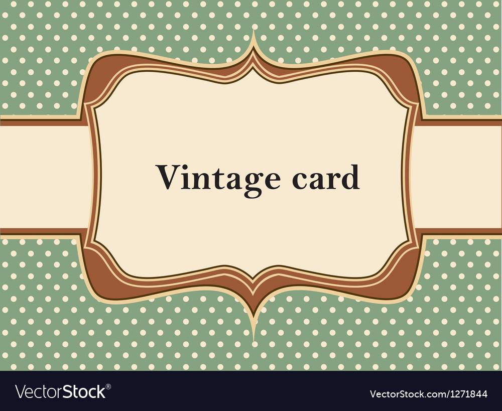 Vintage polka dot card