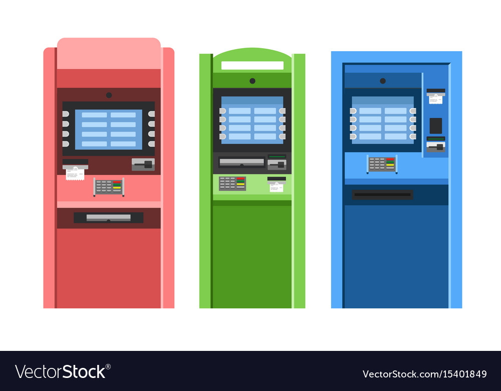 Atm machines set