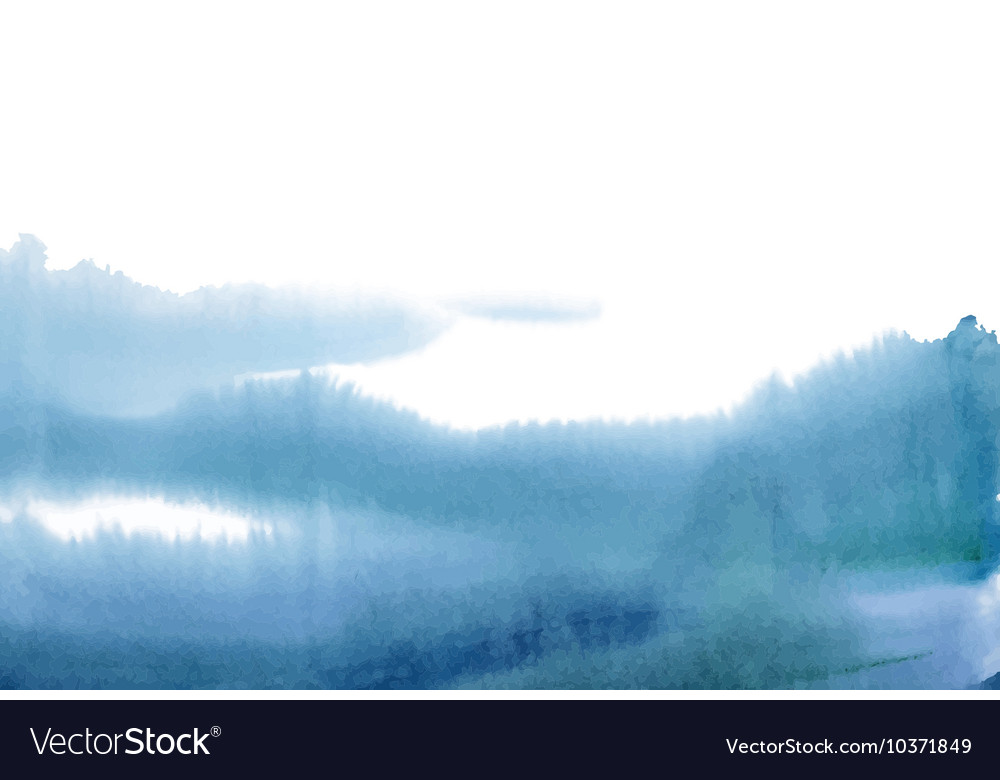 Blue watercolor background for texture and vector image
