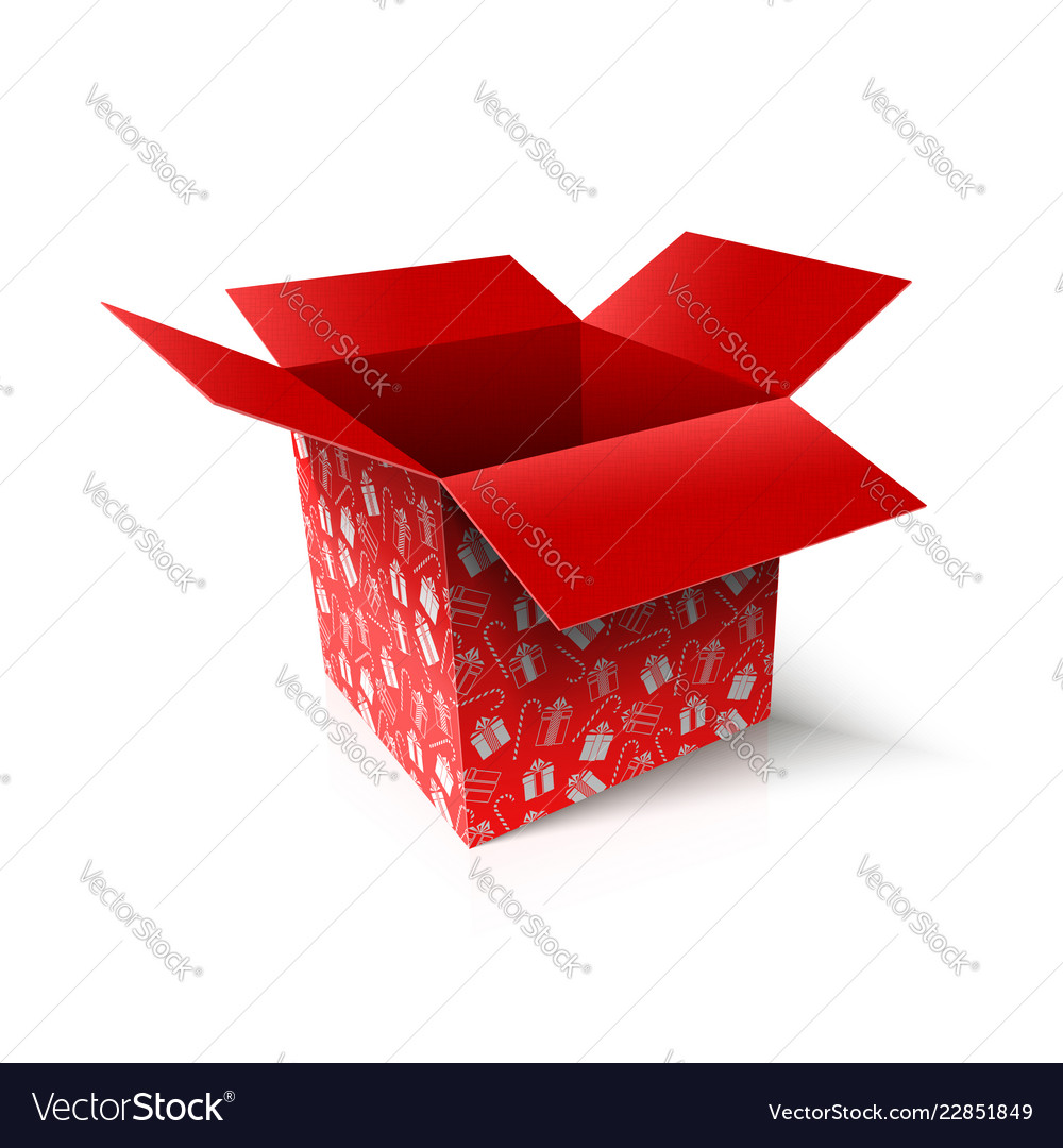 open box new year gift concept Vector Image