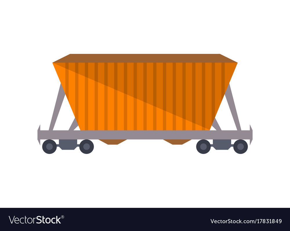 Commercial railway freight wagon icon
