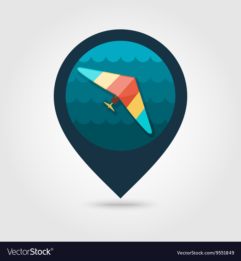 Hang Glider pin map icon Summer Vacation