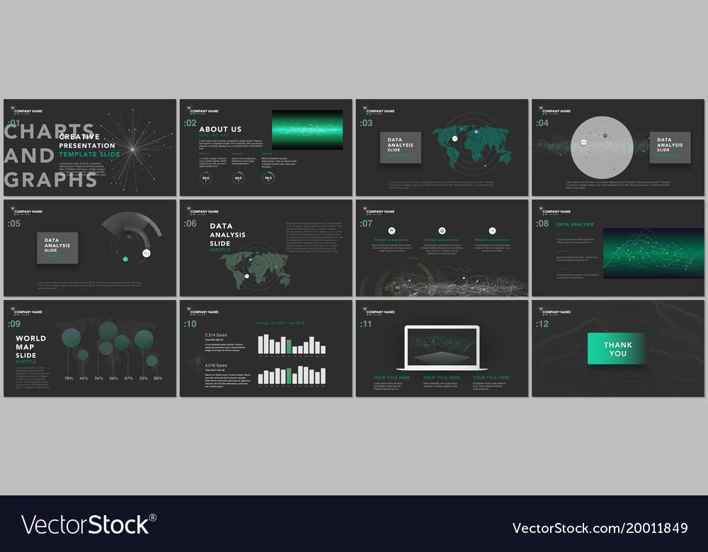 minimal presentation templates tech elements vector image