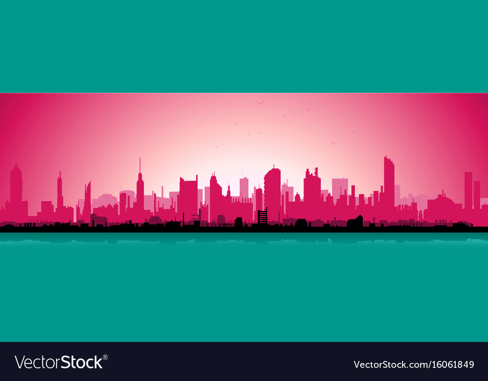 Morning urban landscape vector image