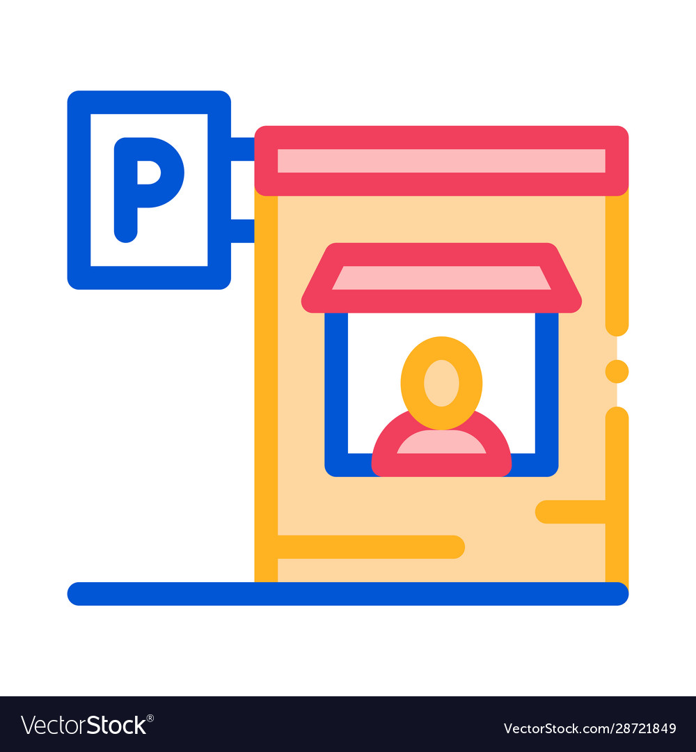 Parking icon outline