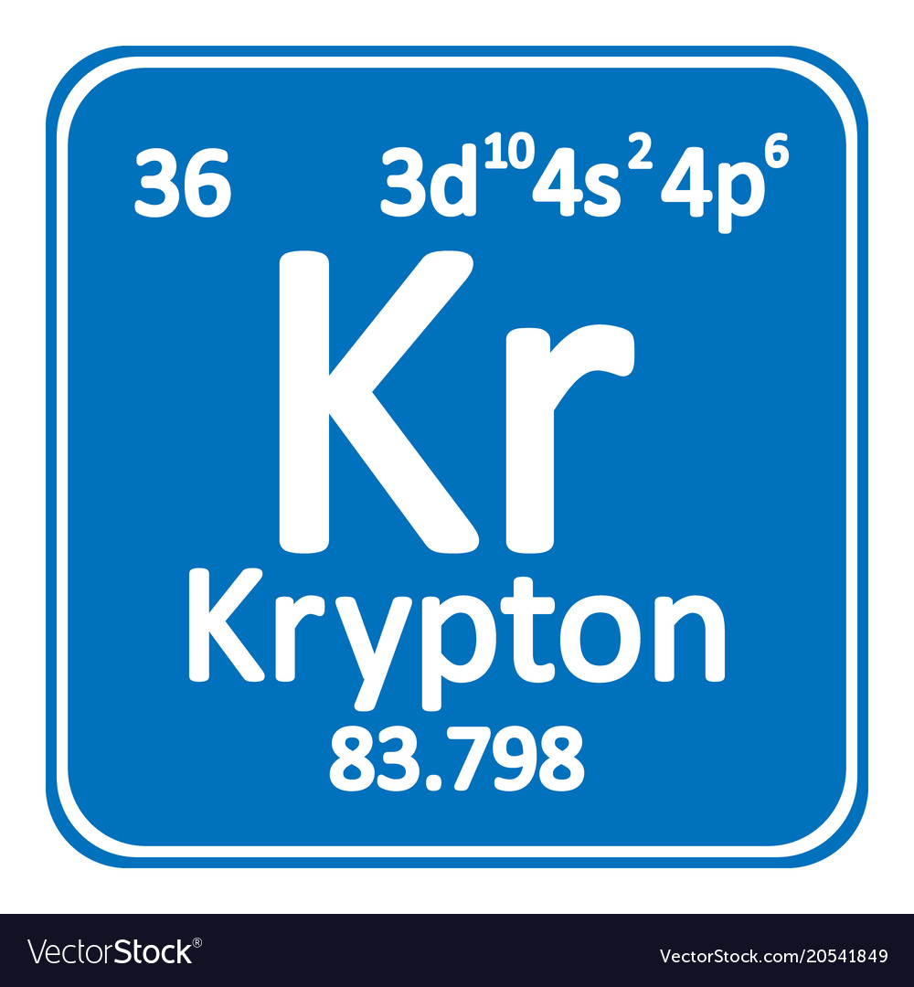 Periodic table element krypton icon royalty free vector periodic table element krypton icon vector image urtaz