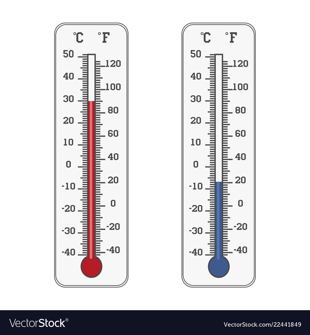 Thermometer icon celsius and fahrenheit measuring