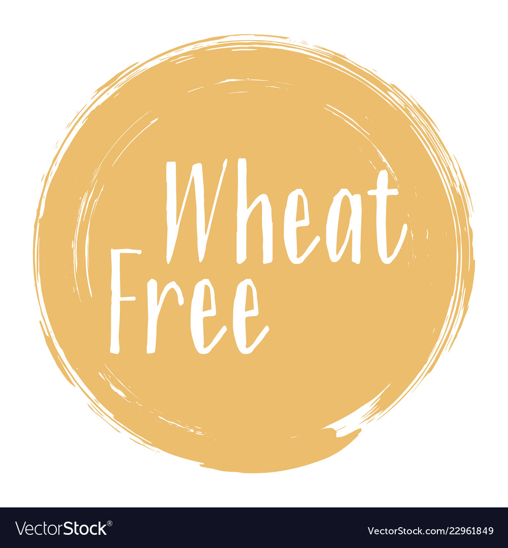Wheat free icon package label design