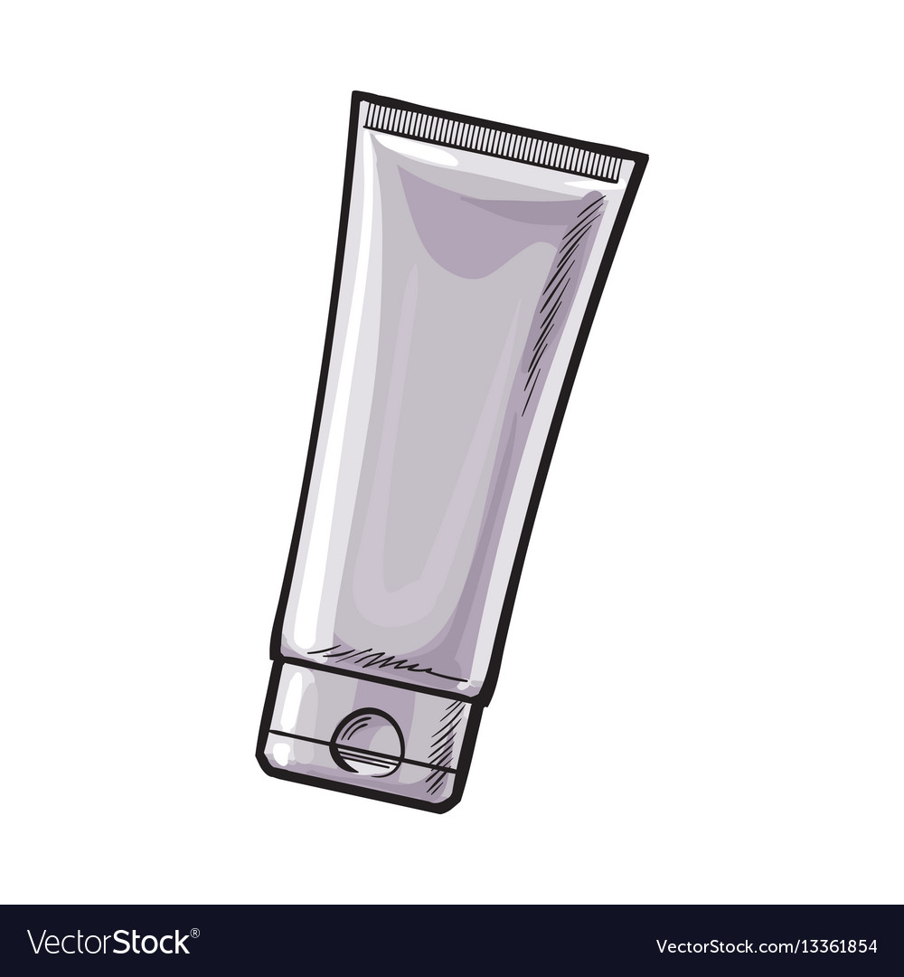 Blank unlabelled tube of sun protection
