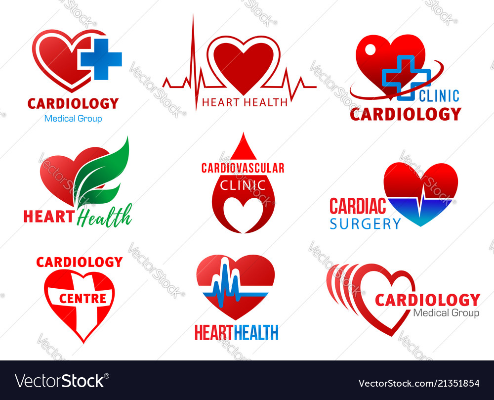 Cardiology cardiac surgery heart health symbols