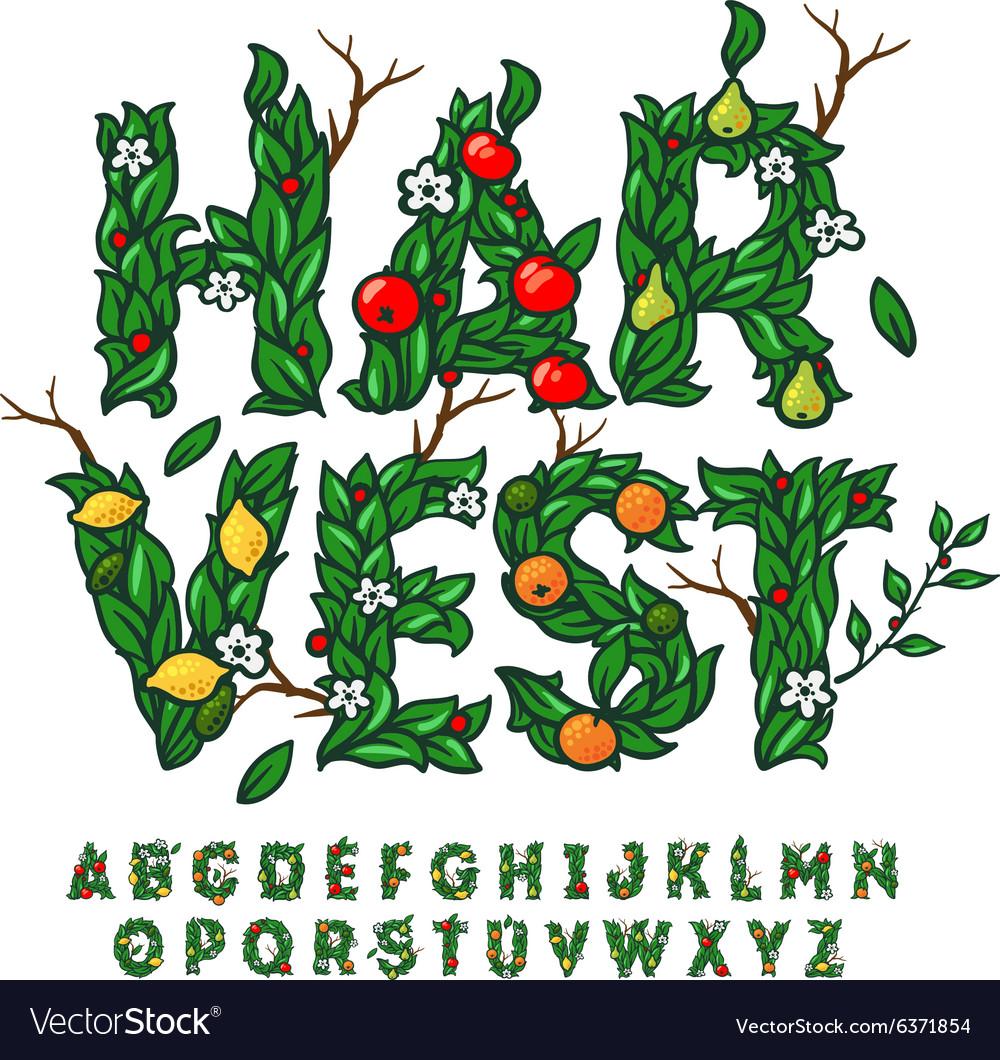 Harvest festival alphabet