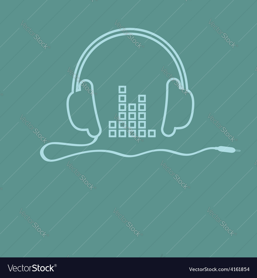 Headphones with cord and equalizer Music