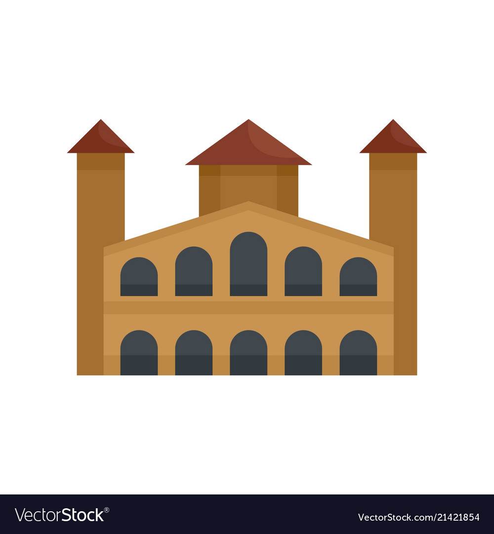 Hystorical building icon flat style