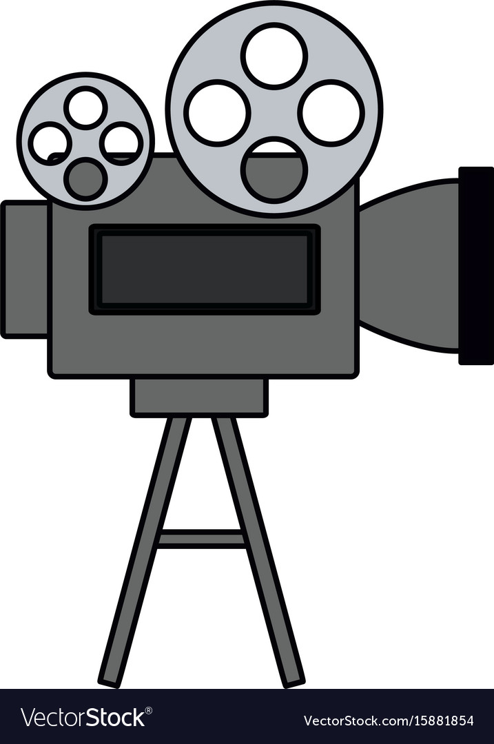 Movie Reel Equipment Royalty Free Vector Image