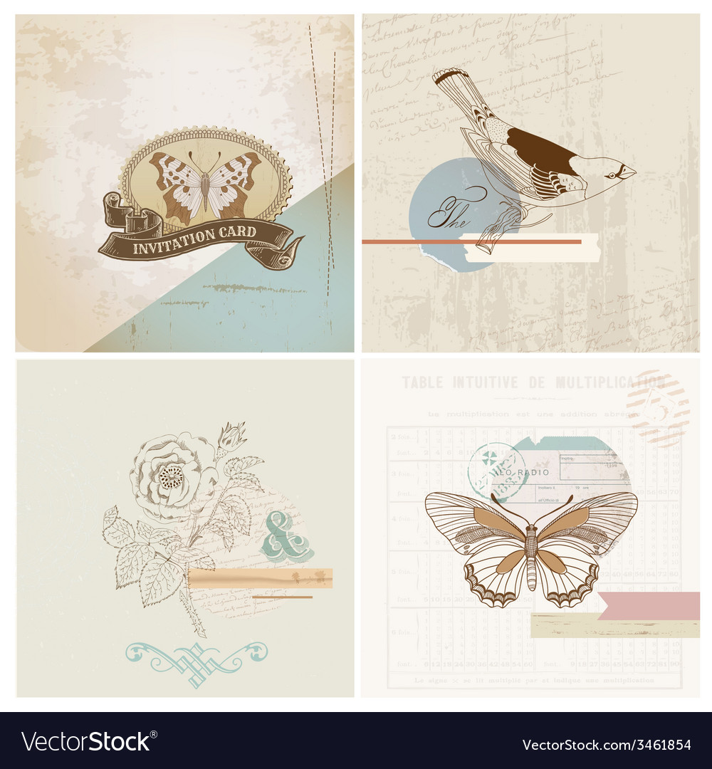 Scrapbook Design Elements - Vintage Paper Set