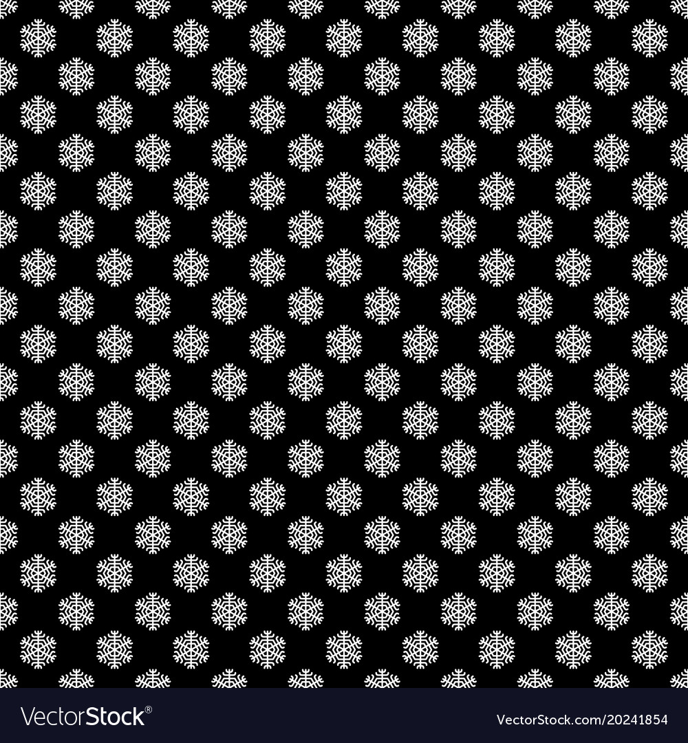 Seamless black and white geometric snowflake vector image