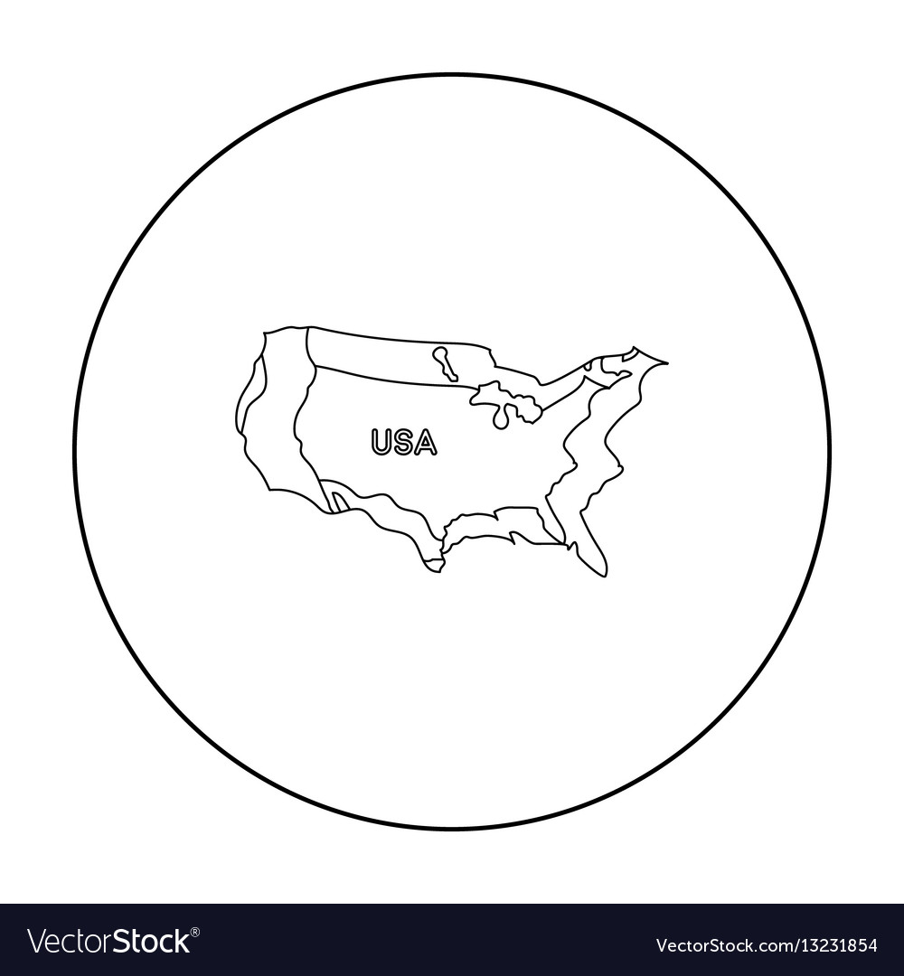 Territory of the united states icon in outline