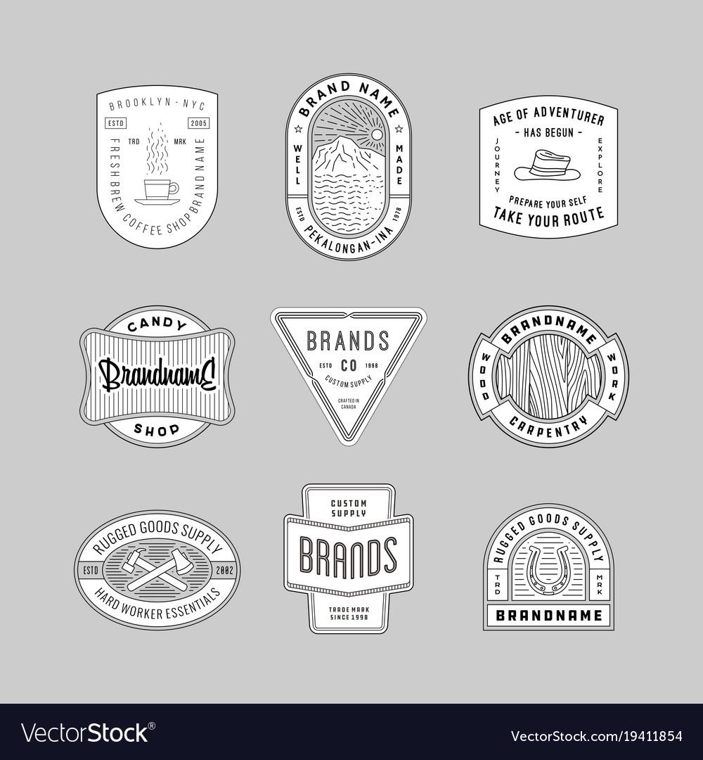 Vintage logo insignia badge set 6