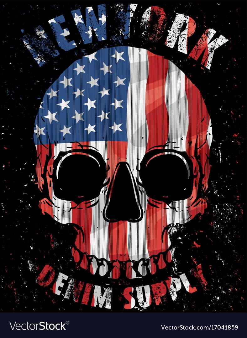 american flag skull royalty free vector image vectorstock