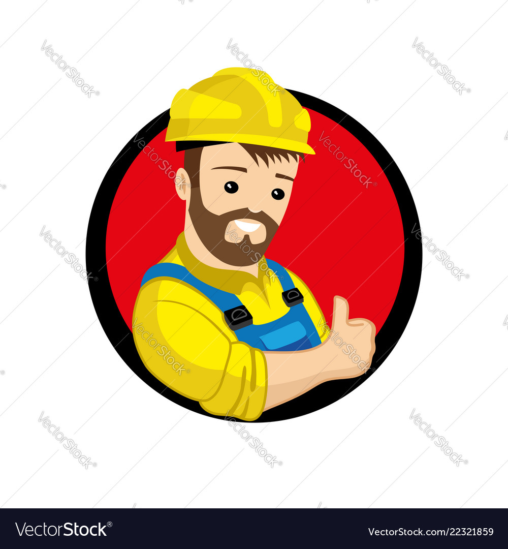 Best worker in a yellow helmet