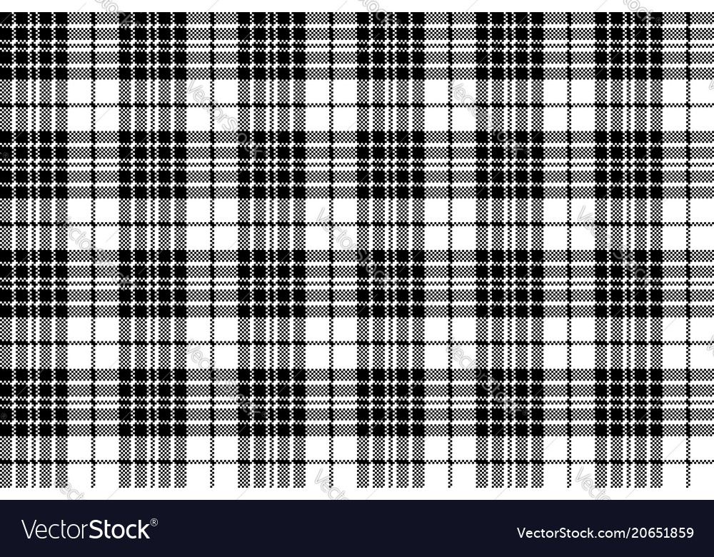 Blackberry tartan clan black white pixel seamless