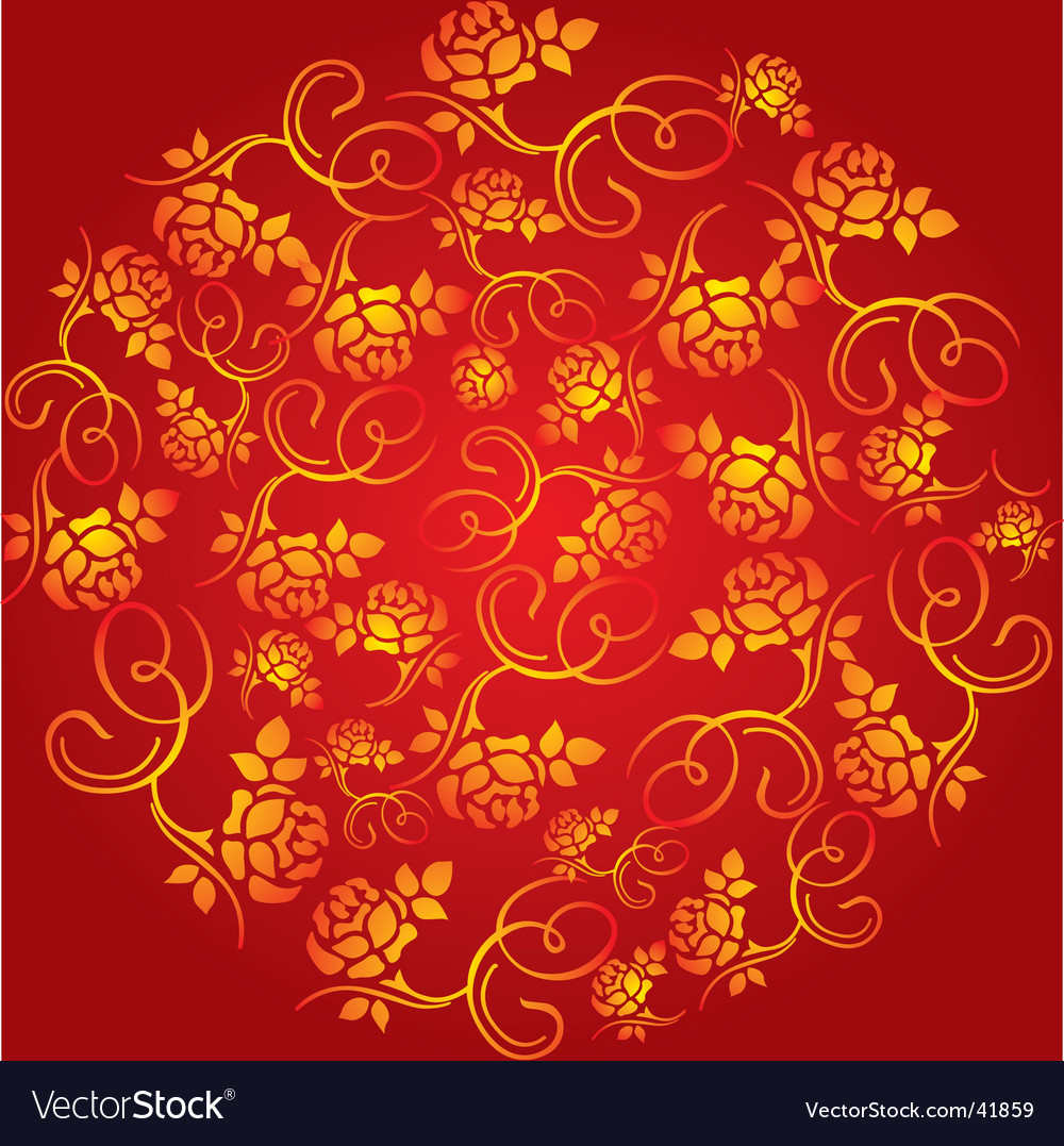 China Flower Pattern Royalty Free Vector Image