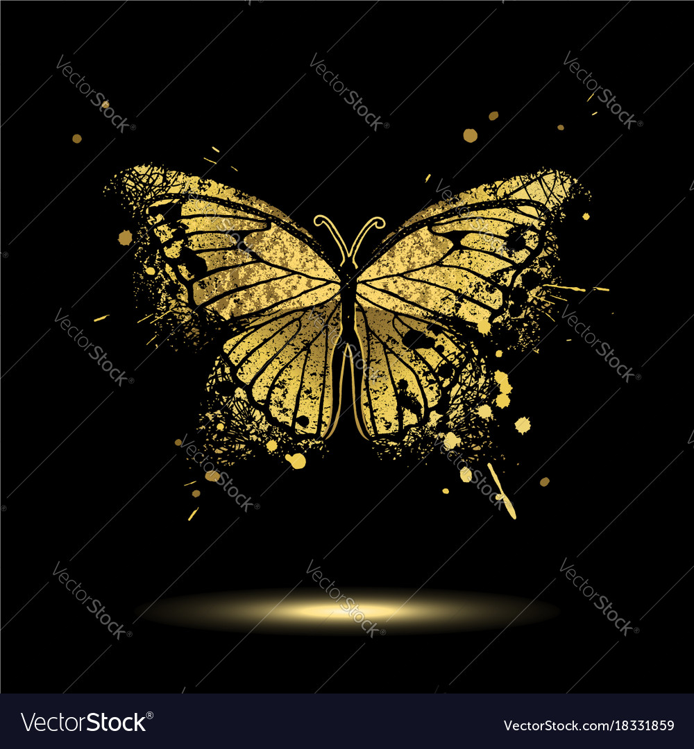 Decorative golden butterfly