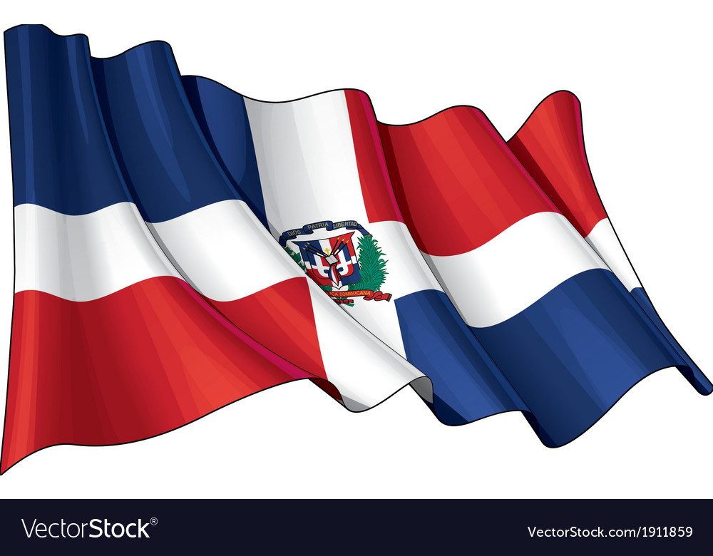 Dominican Republic Flag Grunge