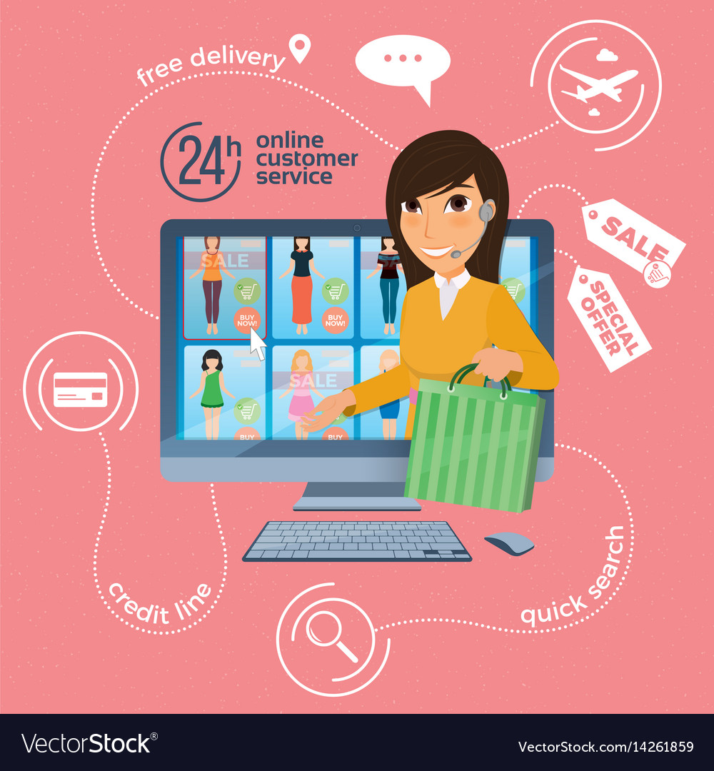 Electronic commerce with online shopping and