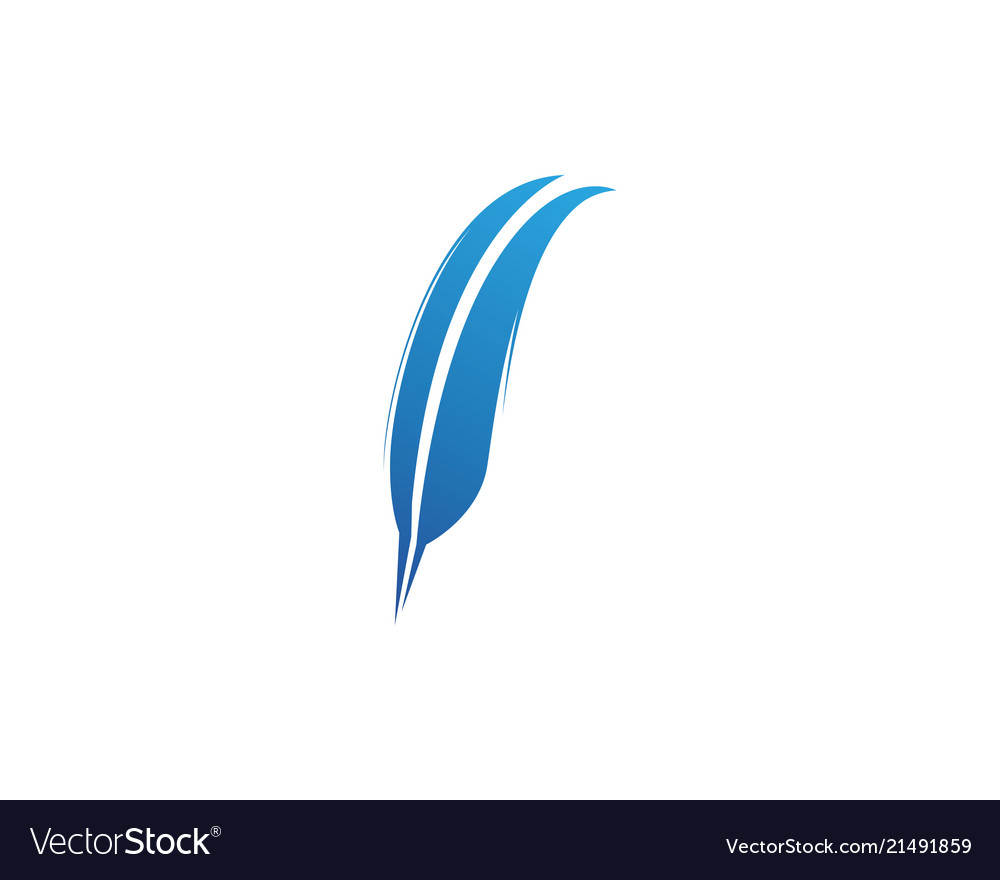 feather pen write sign logo template app icons vector image