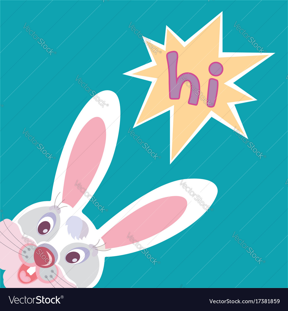 Funny smiling bunny greeting card