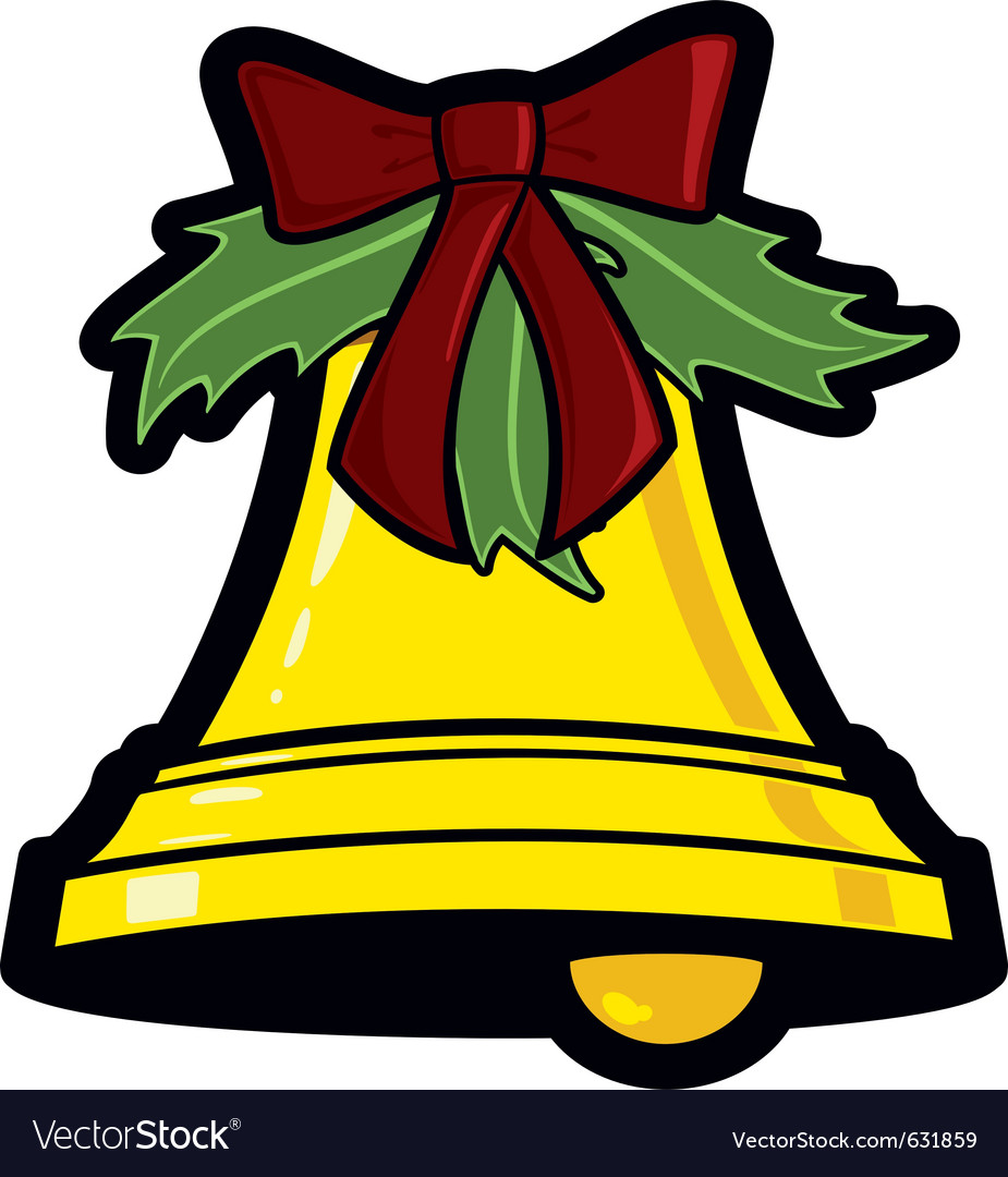 Golden christmas bell holiday graphic icon