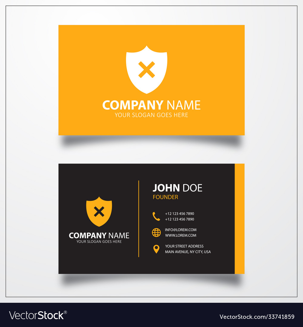 Shield remove icon business card template