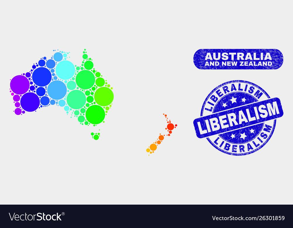 Map Of New Zealand Australia.Spectrum Mosaic Australia And New Zealand Map And