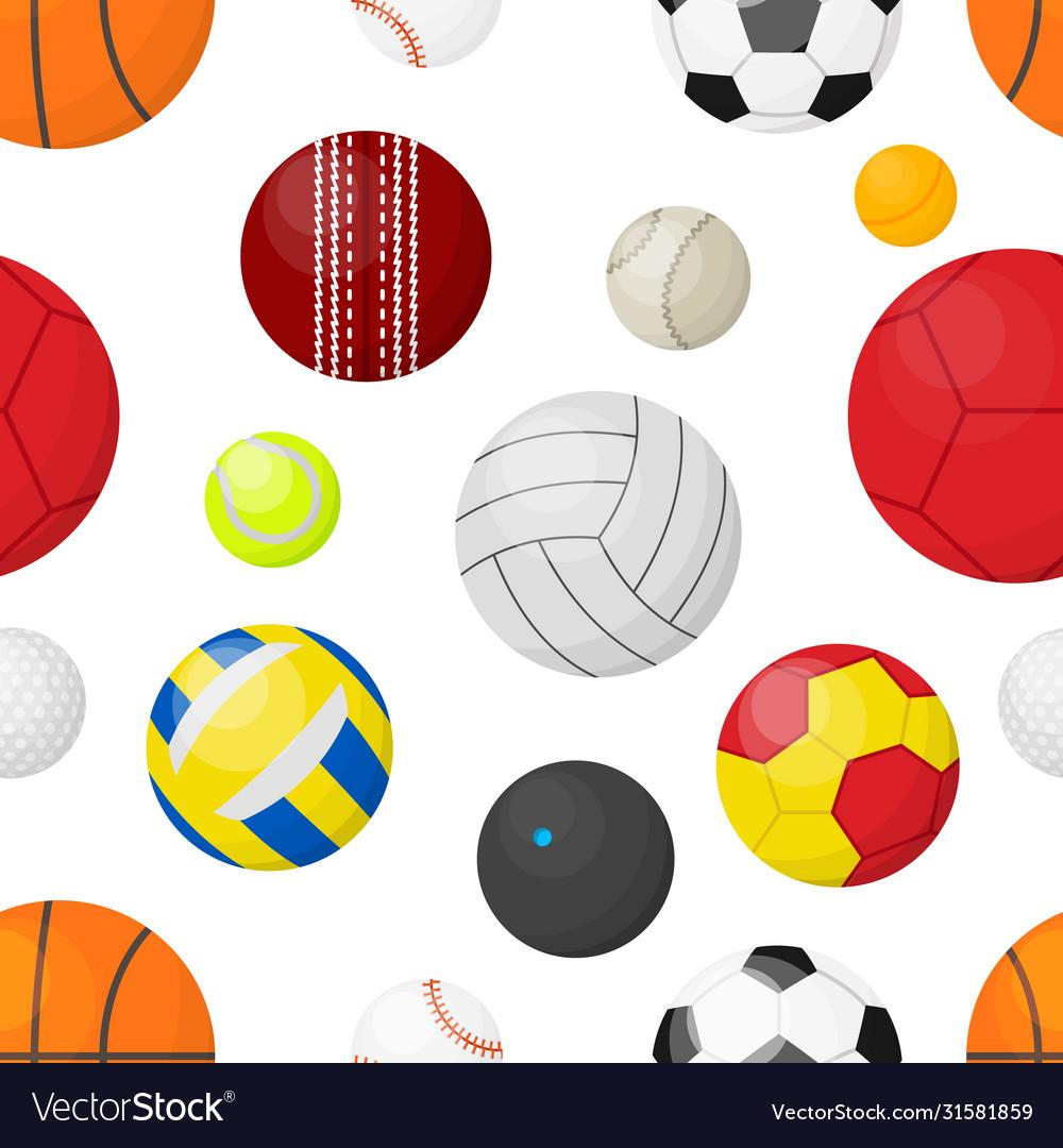 Sport balls background flat banner with balls