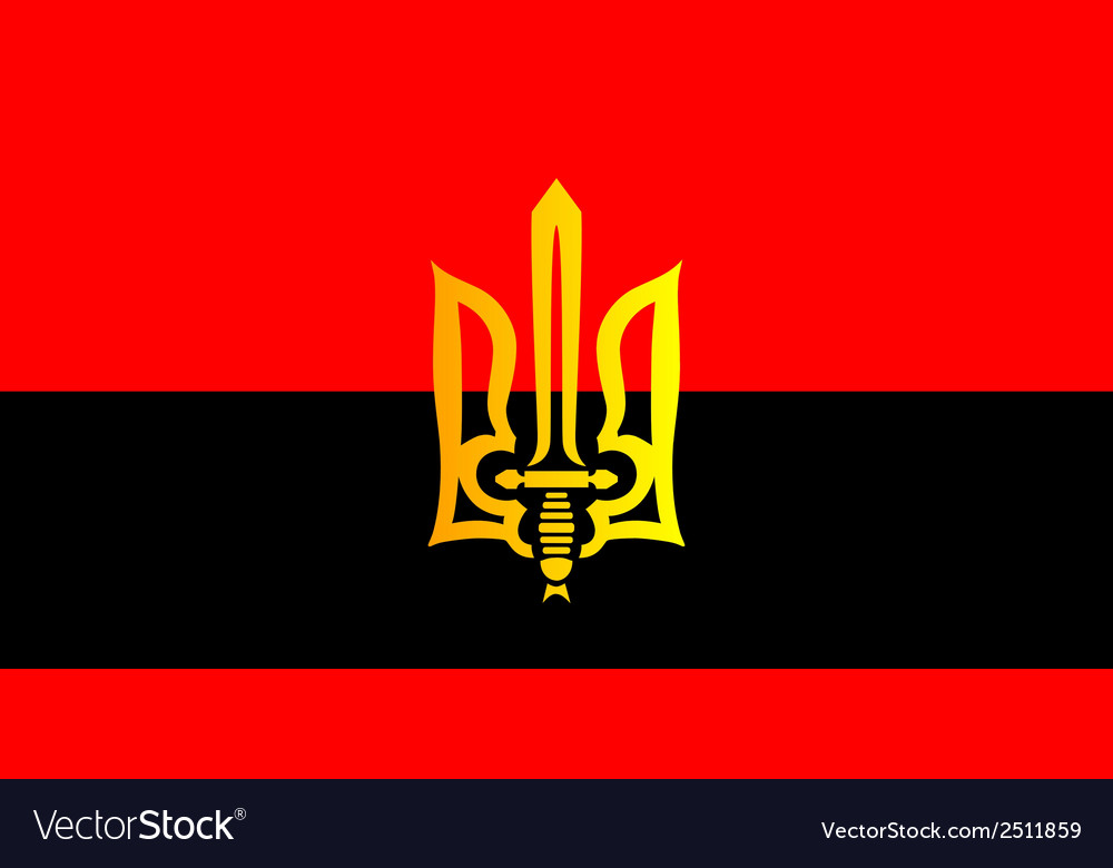 Ukrainian red black flag