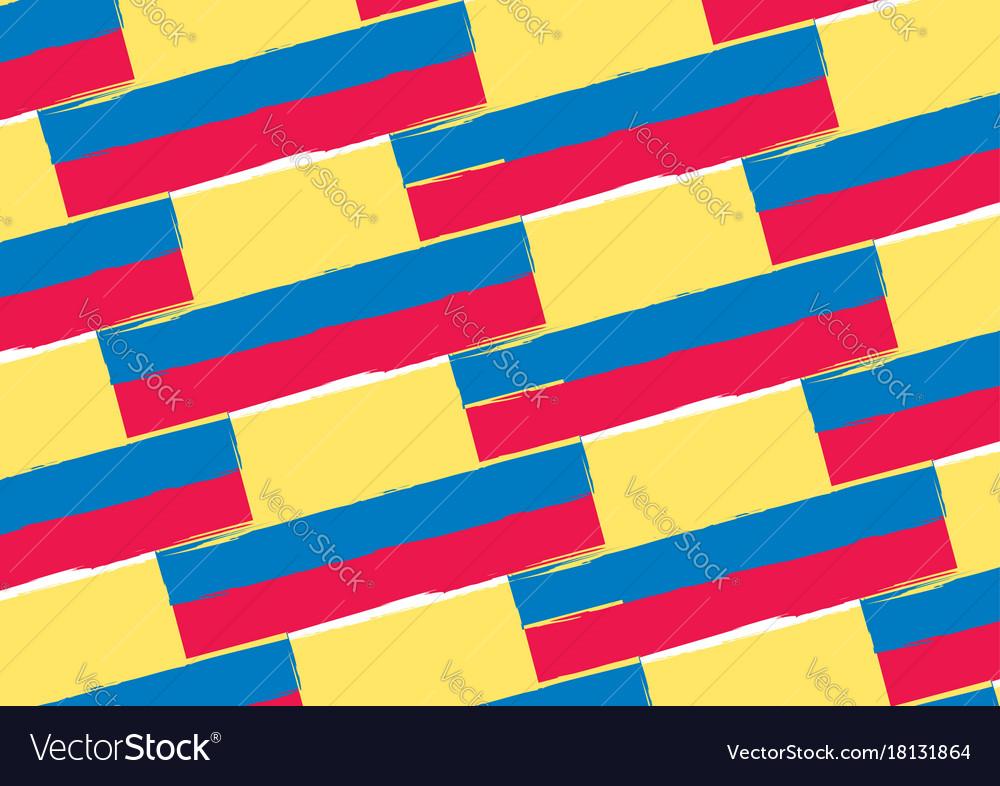 Abstract ecuadorian flag or banner