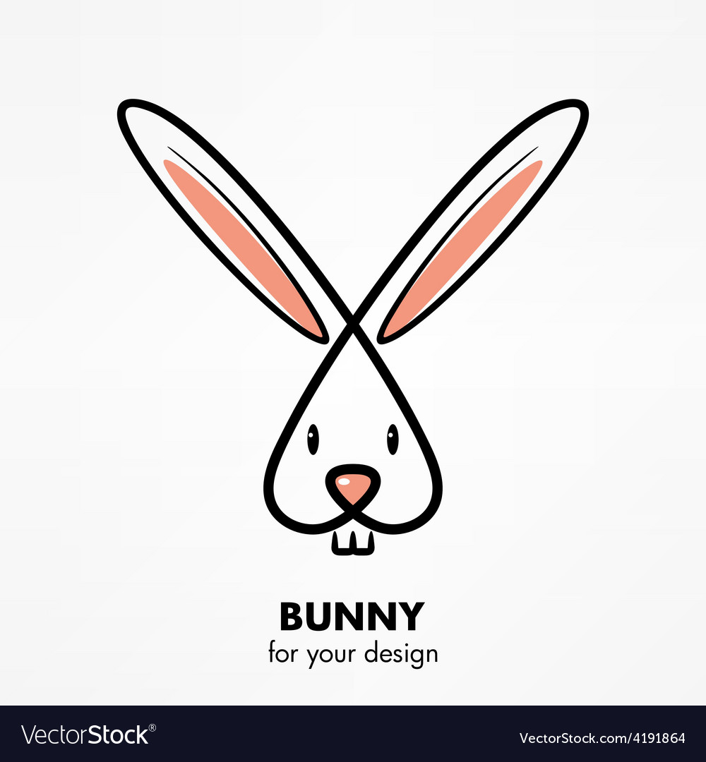 Bunny head vector image