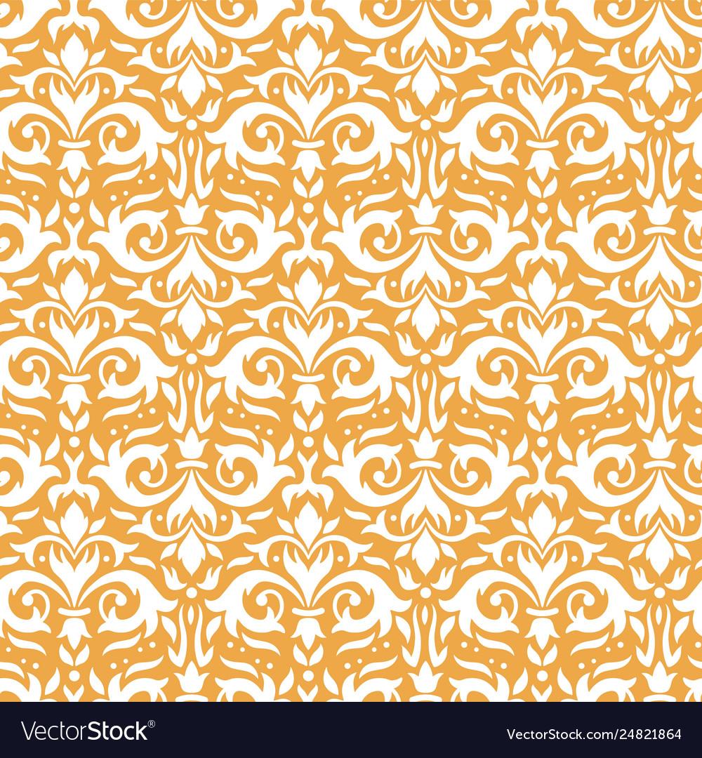 Elegant damask pattern ornate floral sprigs