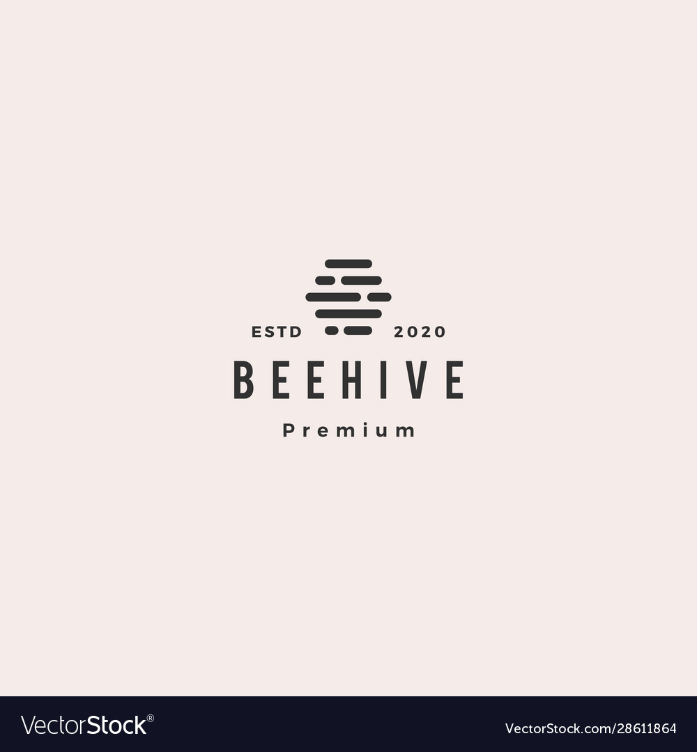 Hive digital logo hipster vintage retro icon