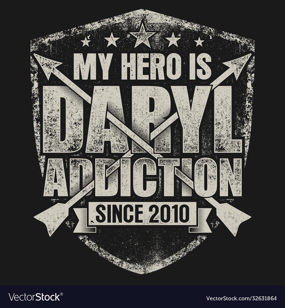 My hero is daryl - walking dead zombie
