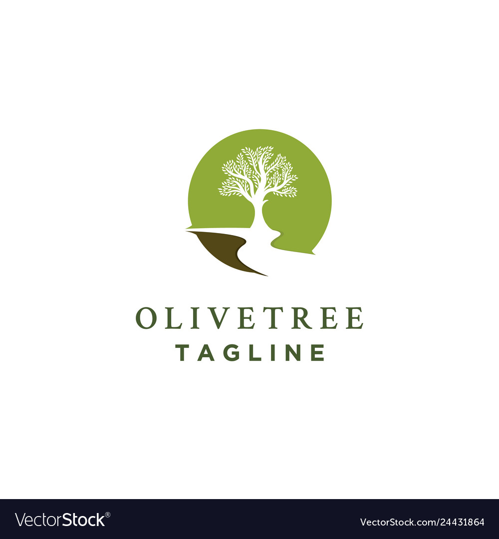 Olive tree logo designs with rivers