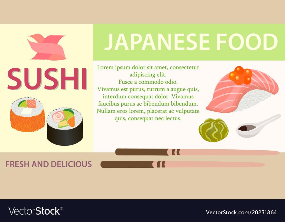 Poster sushibar japanese food eps10